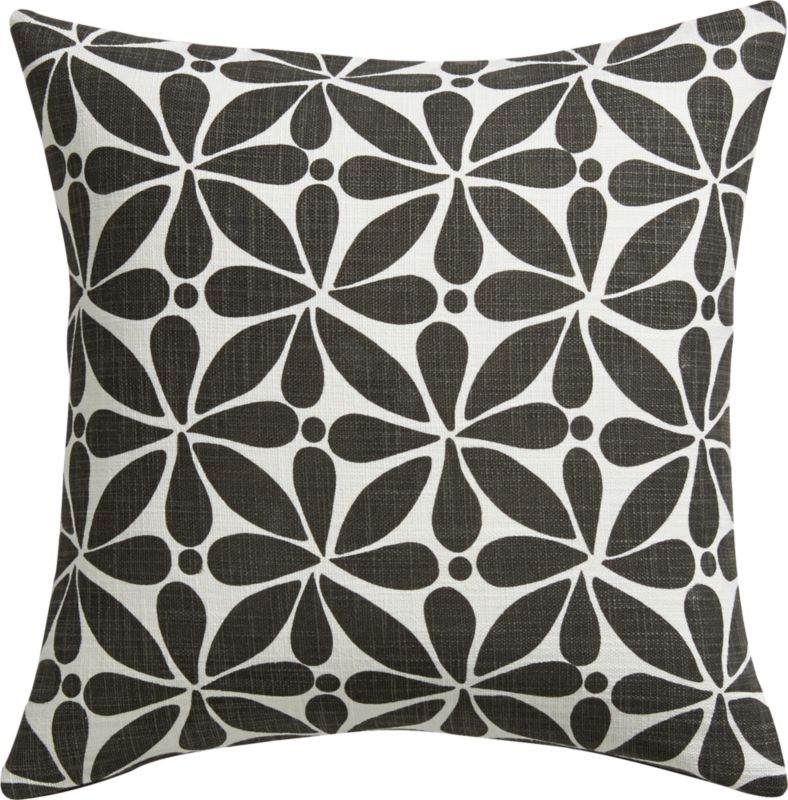 "flourish 16"" pillow with down-alternative insert"