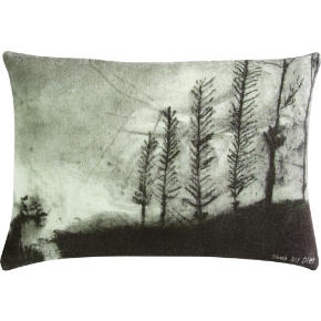 foggy landscape 18x12 pillow