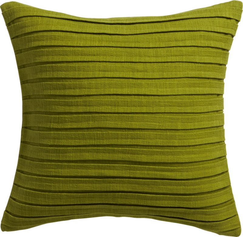"""fold green 16"""" pillow with feather insert"""