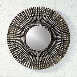 "folded metal 27.75"" wall mirror"
