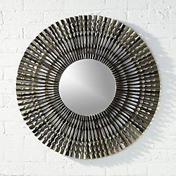 "folded metal 27.75"" wall mirror"