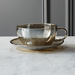 fool's gold cup with saucer