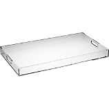 format clear rectangular tray