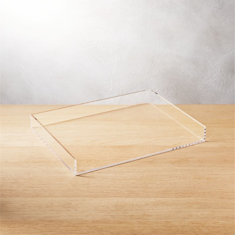 "<span class=""copyHeader"">clean your desk.</span> Or anywhere you have stuff. Crystal clean acrylic desk accessory organizes in not-so-plain sight.<br /><br /><NEWTAG/><ul><li>Clear acrylic</li><li>Clean with dry cloth</li></ul><br /><br /><br />"