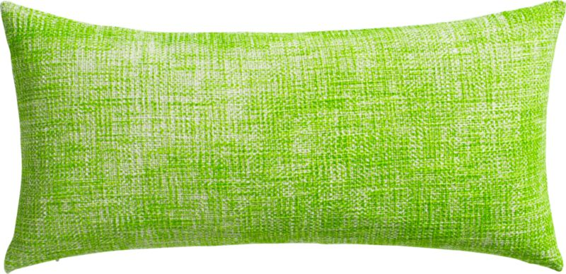 "format bright green 23""x11"" pillow with feather-down insert"