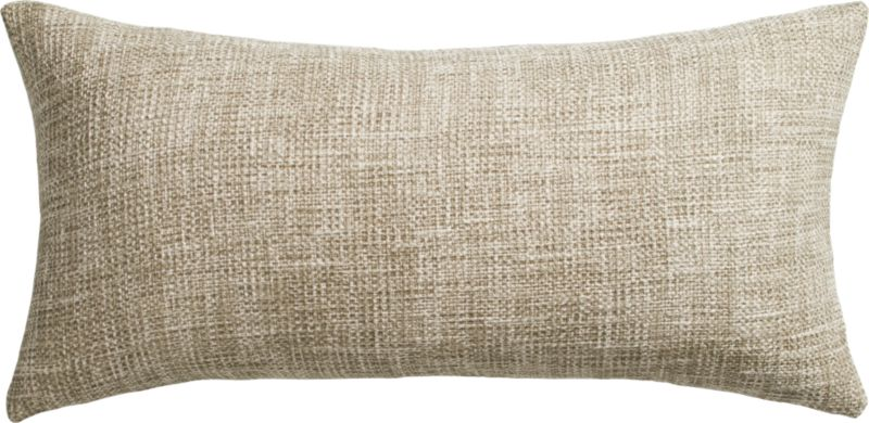 "format natural 23""x11"" pillow with feather-down insert"