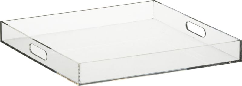format clear square tray : CB2
