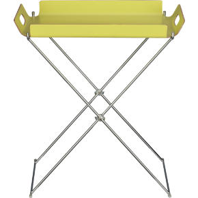 formosa chartreuse tray table