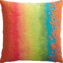 "fossette ombre stripe 20"" outdoor pillow"
