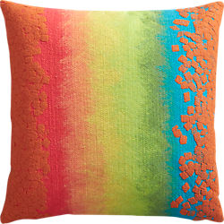 "fossette ombre stripe 20"" outdoor pillow"