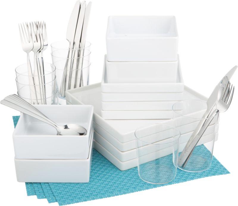 4 square aqua starter set
