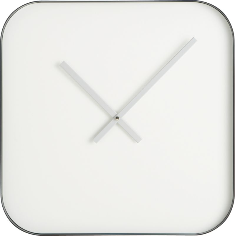 "silver fox 19.75"" clock"