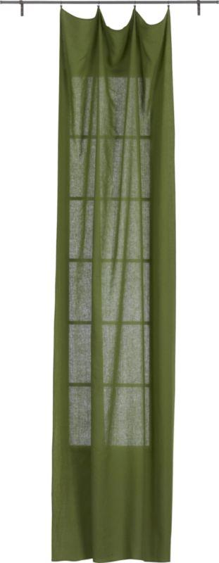 French-Belgian green linen panel
