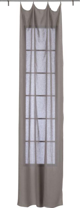 """French-Belgian light grey linen panel 48""""x120"""""""