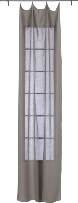 "French-Belgian light grey linen panel 48""x84"""