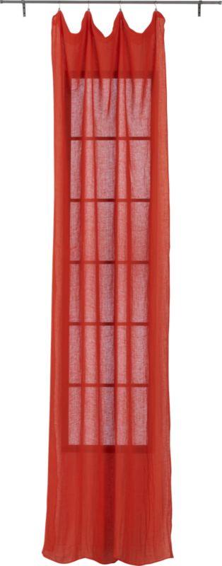 "French-Belgian orange linen panel 48""x84"""