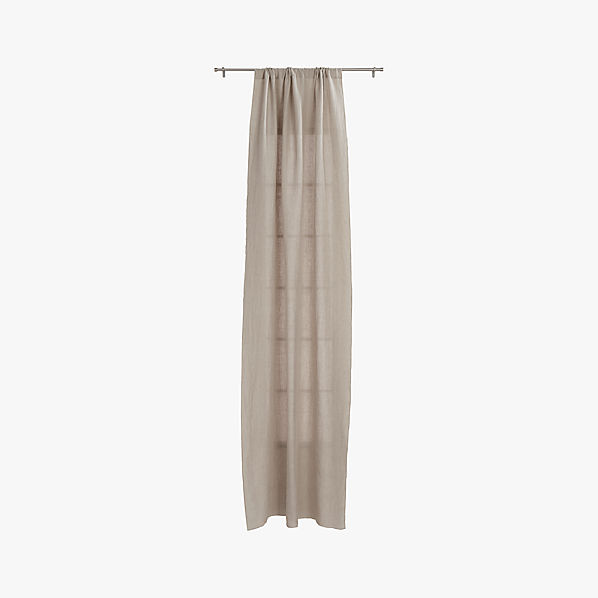 french belgian natural linen curtain panel 48 x84 cb2