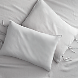 set of 2 French-Belgian linen shale king pillowcases