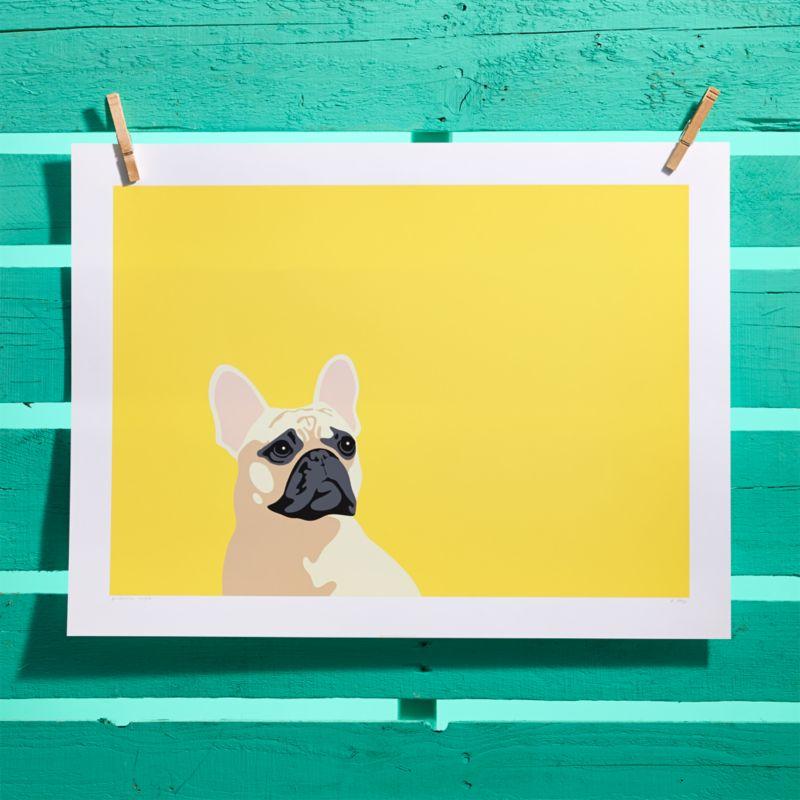 french bulldog screen print