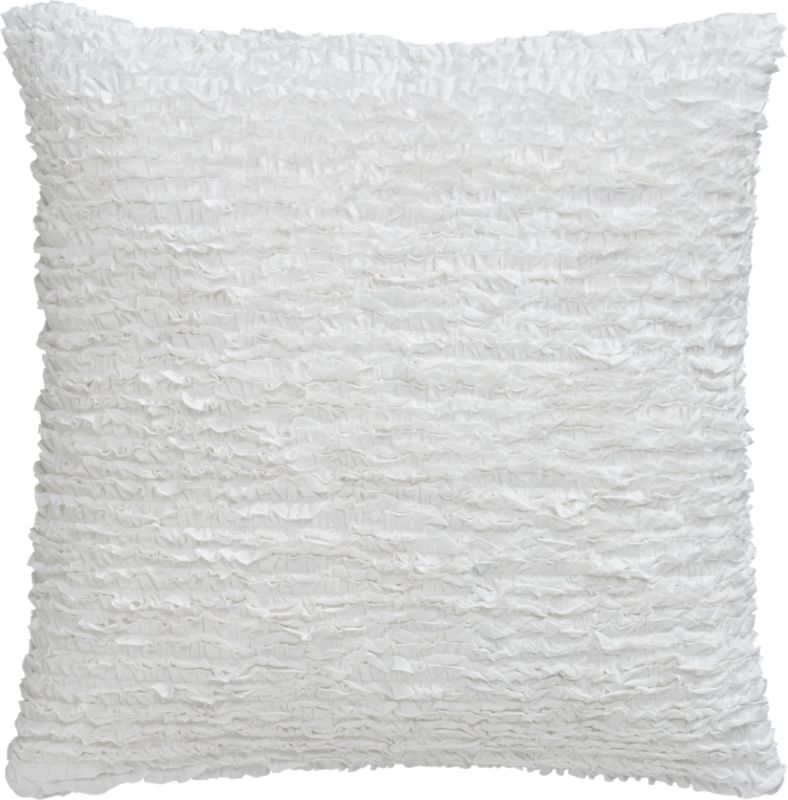 "frill 23"" pillow with feather-down insert"