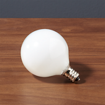 frosted candelabra 25W bulb