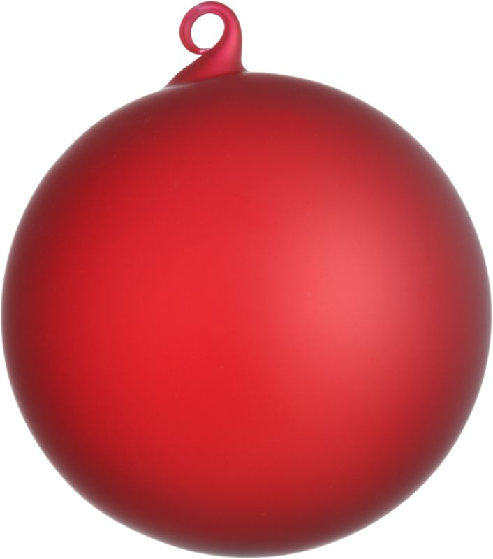 frosted red ornament