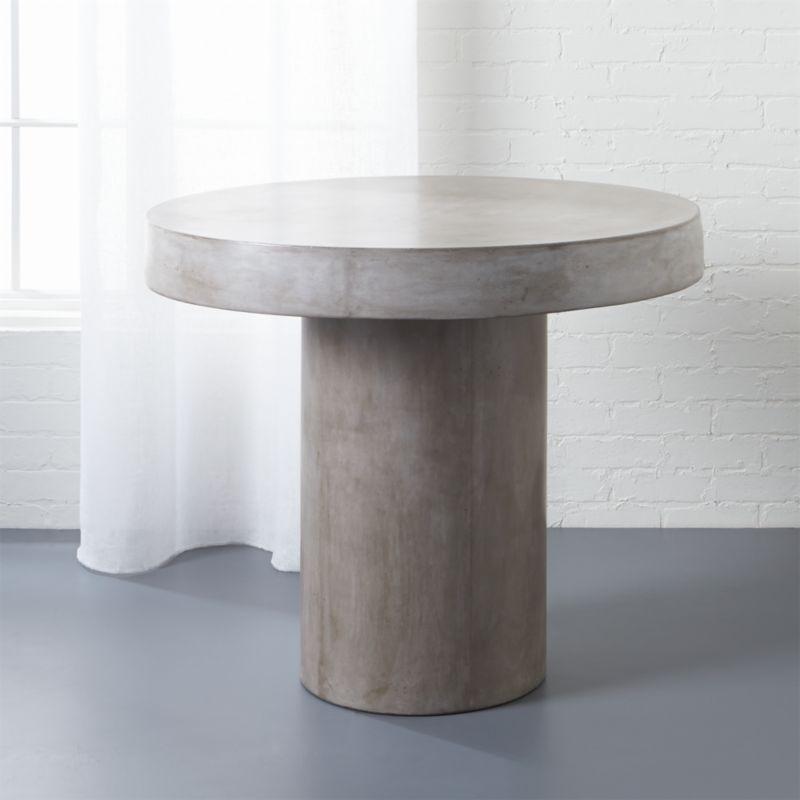 Ottoman Coffee Table Cb2: Fuze Grey Bistro Table