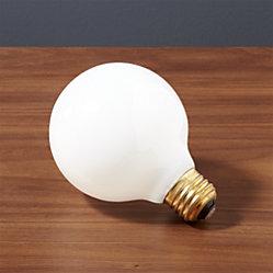 Silver Tipped 60w Light Bulb Cb2