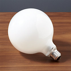 silver tipped 60w light bulb cb2. Black Bedroom Furniture Sets. Home Design Ideas