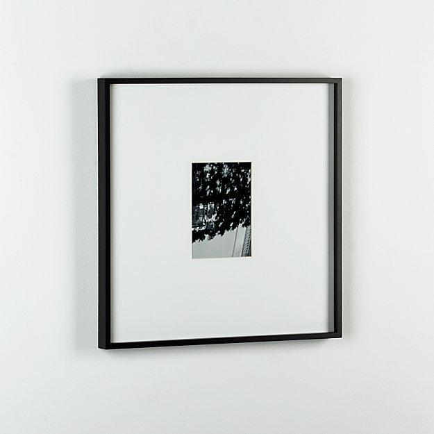 gallery carbon 5x7 picture frame cb2. Black Bedroom Furniture Sets. Home Design Ideas