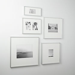 gallery brushed silver picture frames