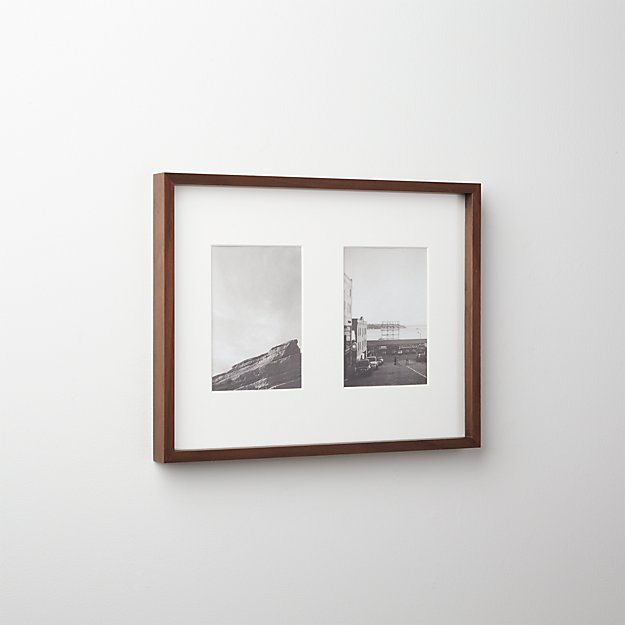 gallery walnut 2 5x7 picture frame