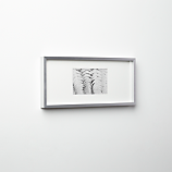 gallery brushed silver 4x6 picture frame
