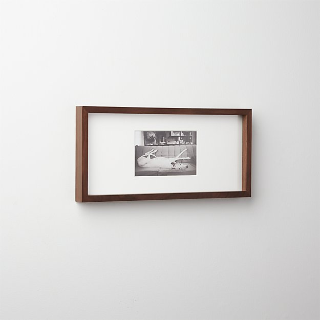 gallery walnut 4x6 picture frame