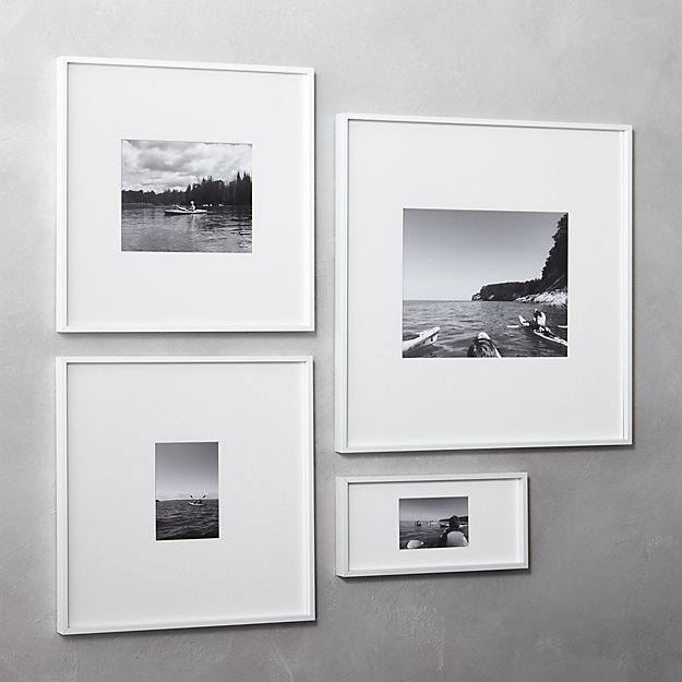 gallery white picture frames