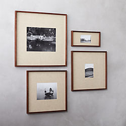 gallery walnut picture frames with linen mats