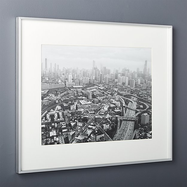 gallery brushed silver 18x24 picture frame