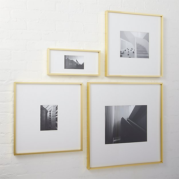 Gallery Brass Picture Frames CB2
