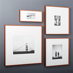 gallery copper picture frames with white mats