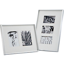 gallery brushed aluminum picture frames