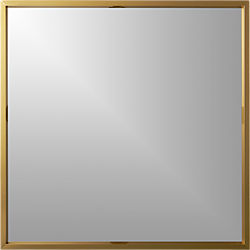 "gallery 33"" brass wall mirror"