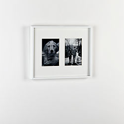 gallery white 2 5x7 picture frame