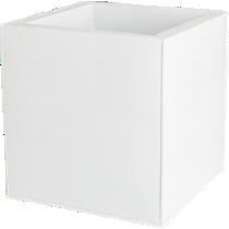 blox medium square galvanized high-gloss white planter