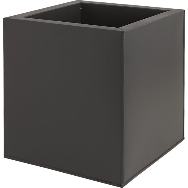 blox medium square galvanized charcoal planter