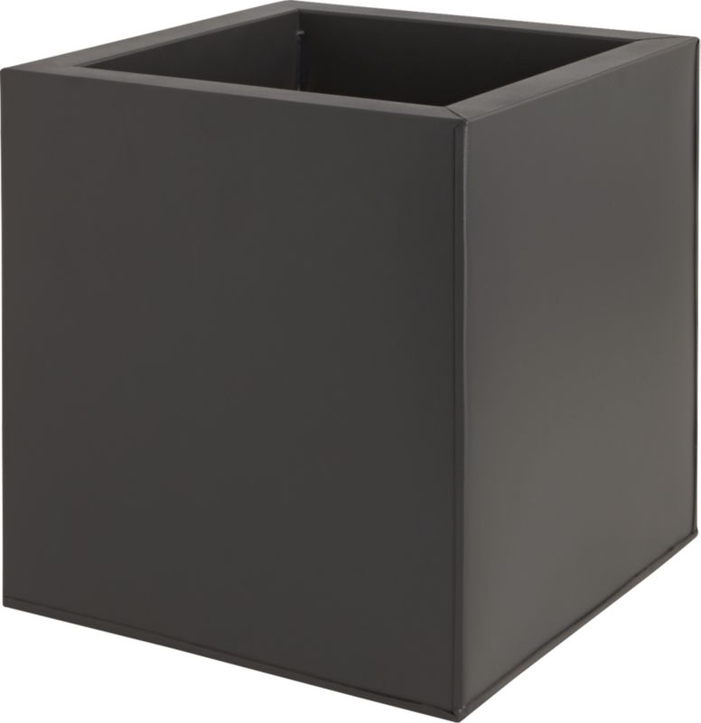 galvanized matte black medium planter