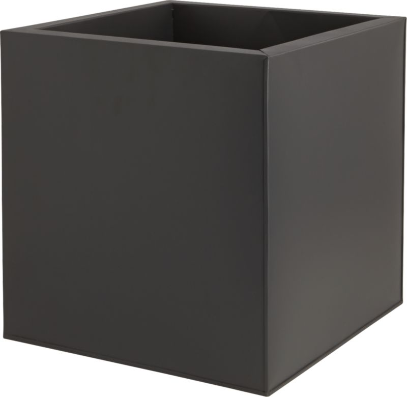 galvanized matte black large planter