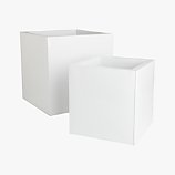 blox galvanized high-gloss white planters