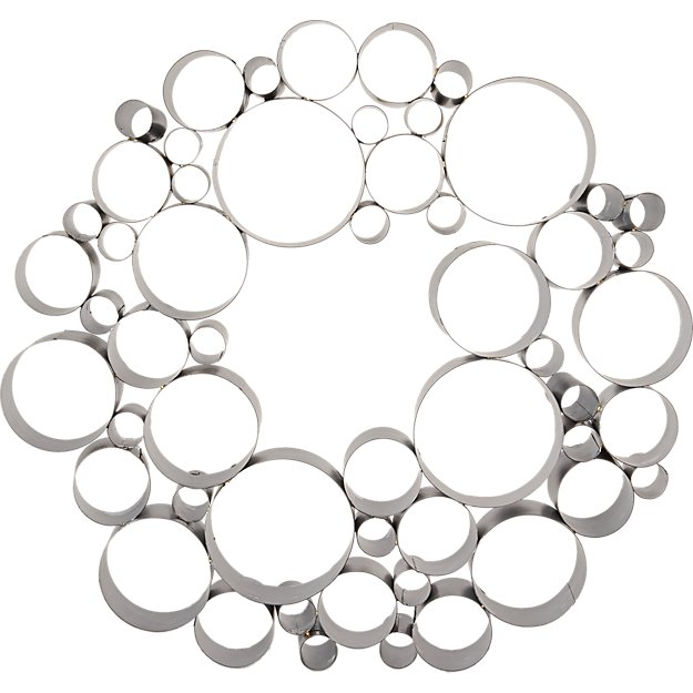 galvanized bubble wreath