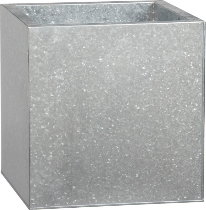 large galvanized square planter