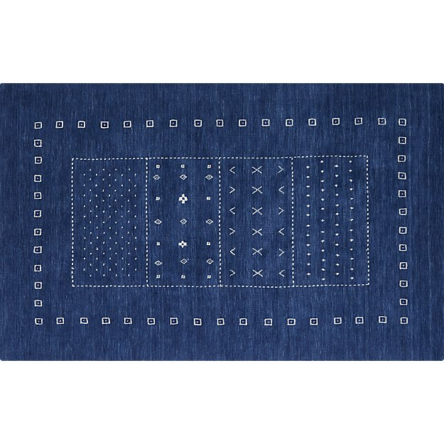 game time hand-loomed rug 5'x8'